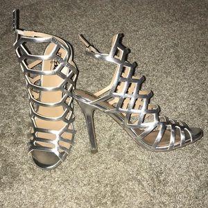 Sliver Strappy Ankle Heels